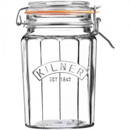 Facetted Clip Top Jar, 950ml