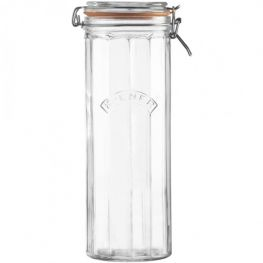 2.2 Litre Facetted Clip Top Jar