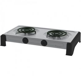 Double Spiral Hot Plate, Silver