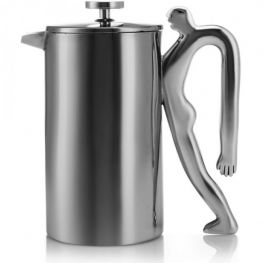 Stainless Steel Coffee Plunger, Full Of Beans