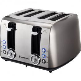 Vintage 4 Slice Toaster, Grey