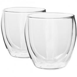 350ml Double Walled Glasses, Set Of 2