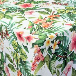 Hibiscus Tablecloth, Rectangular
