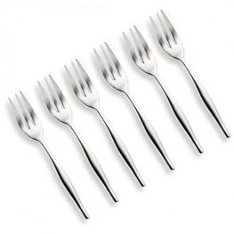 Giftboxed Cake Fork Set, 6pc, Slimline