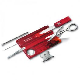 Swisscard Lite With LED Light, Transparent Red