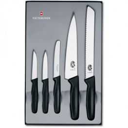 5pc Kitchen Knife Set, Black