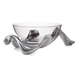 Aluminium Glass Bowl & Stand, Reclining